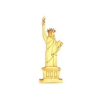 Деревянная заготовка Статуя Свободы, 2,4х6,7 см