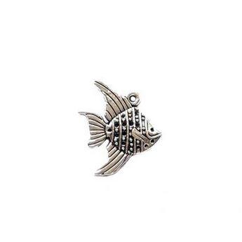 Серебряная металлическая подвеска Рыбка, 1,9х2,3см