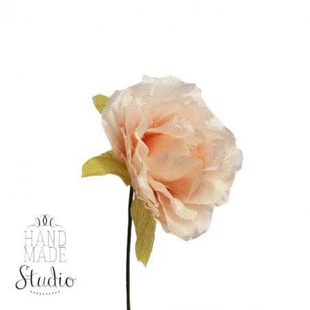 Роза тканевая, цвет бело-розовый