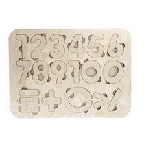 """Деревянная рамка-вкладыш """" Цифры"""", 18х24 см."""