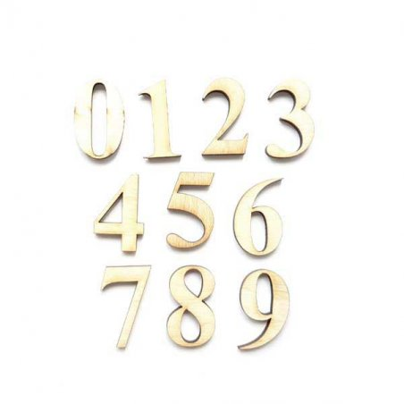 Набор цифр (от 0 до 9 ) 5 см