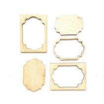 Набор деревянных мини-рамочек №1, 6,7х5 см.