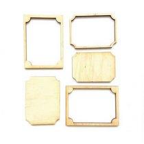 Набор деревянных мини-рамочек №3, 6,7х5 см.