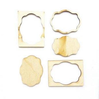 Набор деревянных мини-рамочек №4, 6,7х5 см.