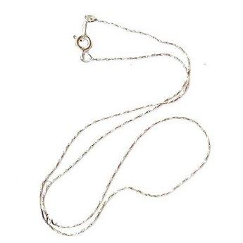 Цепочка-змейка крученая с застежкой, цвет сталь (42 см.)