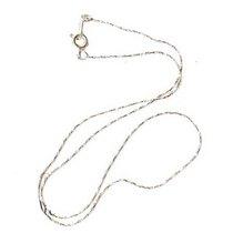 Цепочка-змейка крученая с застежкой, цвет серебро (42 см.)