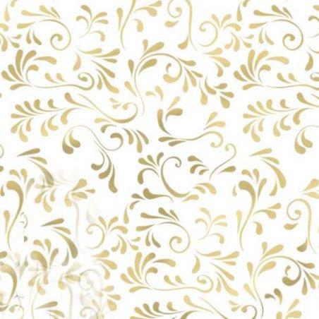 """Веллум полупрозрачный """"Рим"""", плотность 115г/м2 , 21х29,7 см. (А4), цвет золото"""