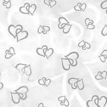 """Веллум полупрозрачный """"Сердца"""", плотность 115г/м2 , 21х29,7 см. (А4), цвет серебро"""