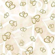"""Веллум полупрозрачный """"Сердца"""", плотность 115г/м2 , 21х29,7 см. (А4), цвет золото"""