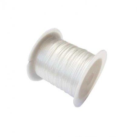 Резиновая нить-жилка для бижутерии (плоская) d 1мм, 10 м.