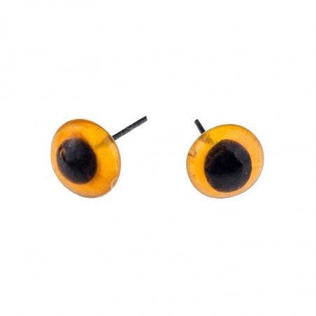 Глазки для игрушек стеклянные 4 мм, цвет - янтарный