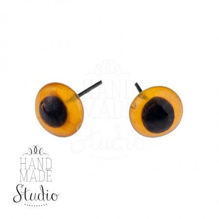 Глазки для игрушек стеклянные 5 мм, цвет - янтарный