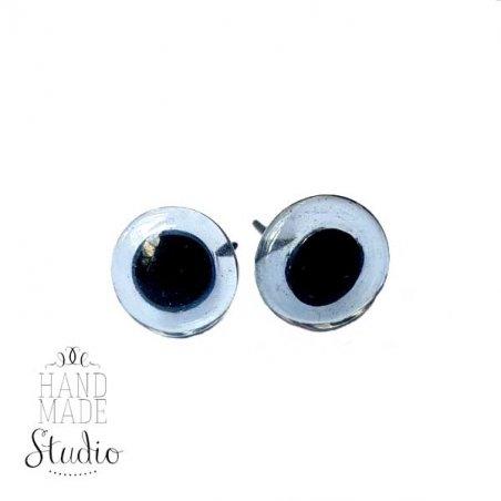 Глазки для игрушек стеклянные 5 мм, цвет - голубой