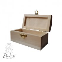 Деревянная шкатулка-сундучок №3, 11,5*6*6 см, материал - ольха