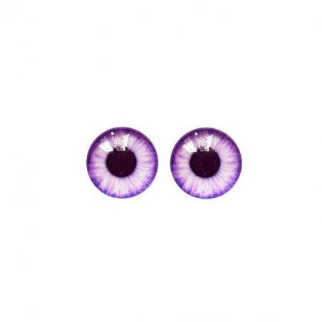 Глазки стеклянные для кукол №77120 (пара), 14 мм, цвет фиолетовый