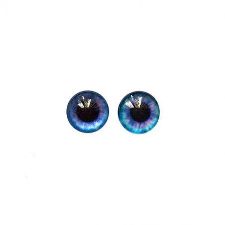 Глазки стеклянные для кукол №77007 (пара), 8 мм, цвет фиолетово-синий