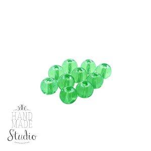 Бусины стеклянные светло-зеленые, 8 мм, №3