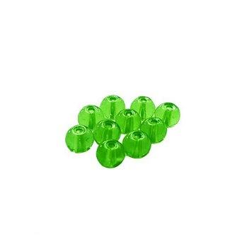 Бусины стеклянные зеленые, 6 мм, №11, 10 шт