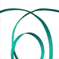 Репсовая лента 0,6 см, цвет - малахитовый, 1м