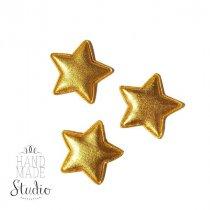 """Текстильный декор """"Звезда-подушечка"""", цвет золото, 3 шт,  3х2,8 см"""