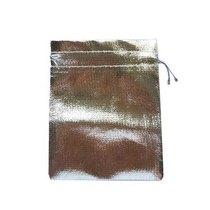 """Подарочный мешочек """"Металлик""""12х10 см, цвет- серебристый"""