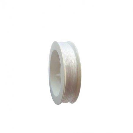 Титановая нить для бисера, цвет белый, 100 м