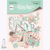 """Набор высечек для скрапбукинга """"Happy Days"""", 49 шт"""