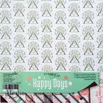 "Набор односторонней бумаги 20х20см ""Happy Days"", 190г/м2, 10 листов"