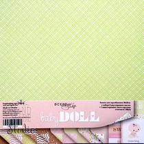 """Набор двусторонней бумаги 20х20см """"Baby DOLL"""", 190г/м2, 10 листов"""