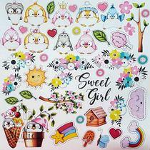 "Лист односторонней бумаги ""My tiny sparrow girl"", 30,5x30,5 см,  200 г/м2, 1 лист"