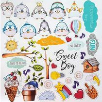 "Лист односторонней бумаги ""My tiny sparrow boy"", 30,5x30,5 см,  200 г/м2, 1 лист"