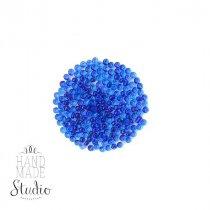 Бисер китайский синий прозрачный с прокрашеной серединкой №3/813В, 20 г