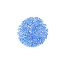 Бисер китайский голубой прозрачный с блестящей серединкой №33*, 20 г