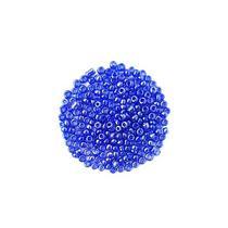 Бисер китайский синий прозрачный глянцевый №108, 20 г