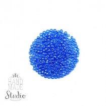 Бисер китайский голубой прозрачный глянцевый №113, 20 г