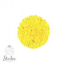 Бисер китайский желтый прозрачный глянцевый №112, 20 г