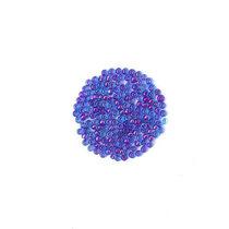 Бисер китайский голубой прозрачный с фиолетовой серединкой №103/809, 20 г