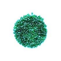 Бисер китайский бутылочный зеленый прозрачный глянцевый №107, 20 г