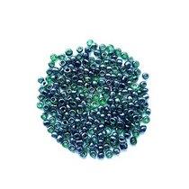 Бисер китайский бутылочный зеленый прозрачный глянцевый с прокрашенной серединкой №107/49, 20 г