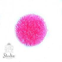 Бисер китайский прозрачный с ярко-розовой серединкой №815*, 20 г