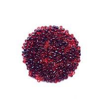 Бисер китайский красный прозрачный с черной серединкой №5/49, 20 г