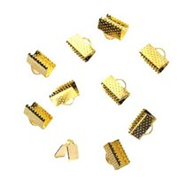 Зажимы для лент 6 мм, цвет - золото, 10шт