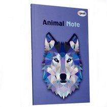 "Блокнот №039 ""Animal Note"" violet, А5, 80л."