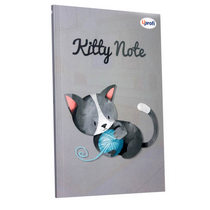 "Блокнот №605 ""Kitty note"" grey, B6, 80л."