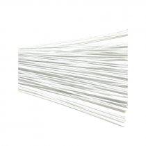 Проволока для стволов в тейп-ленте 26х12 белая, 10 штук