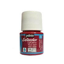 Краска по светлым тканям Tissus clairs Setacolor Pebeo №23 Восточный красный, 45мл.