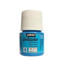 Краска по светлым тканям Tissus clairs Setacolor Pebeo №35 Флуоресцентный голубой, 45мл.