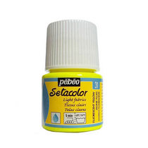 Краска по светлым тканям Tissus clairs Setacolor Pebeo №31 Флуоресцентный желтый, 45мл.