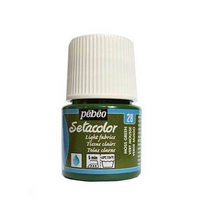 Краска по светлым тканям Tissus clairs Setacolor Pebeo №28 Зеленый мох, 45мл.