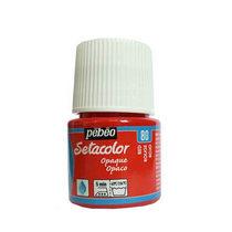 Краска для темных тканей  Setacolor Opaque Pebeo №80 Красный, 45мл.